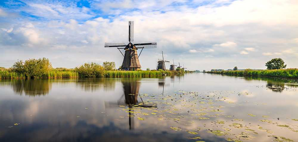 Invånarna i Kinderdijk protestserar mot massturism med hjälp av vykort.