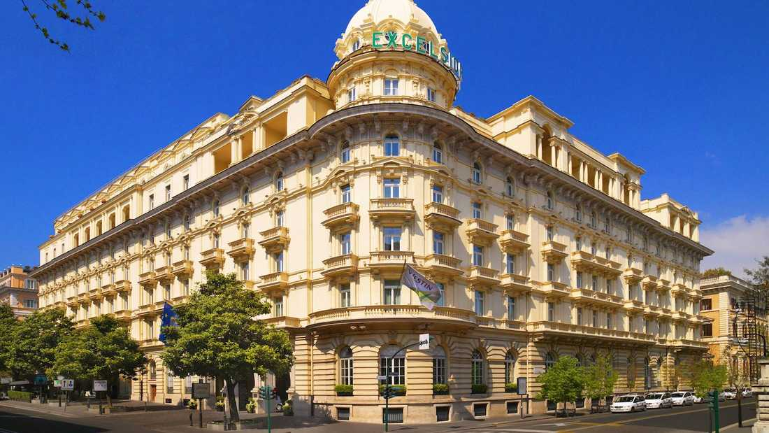 Civilekonomerna bodde på femstjärniga hotellet The Westin Excelsior i Rom.