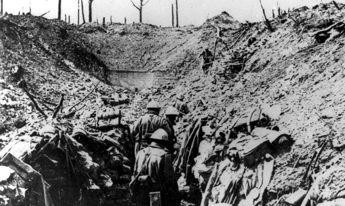 Det har gått 100 år sedan första världskriget avslutades. Arkivbild.