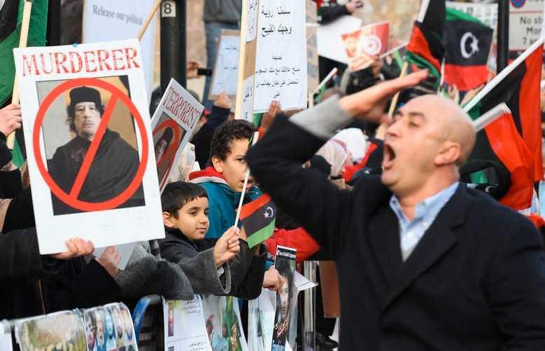 Demonstrationer i Libyen.