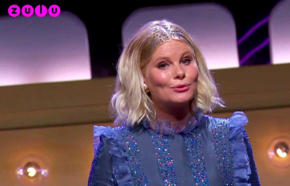Programledaren Sofie Linde.