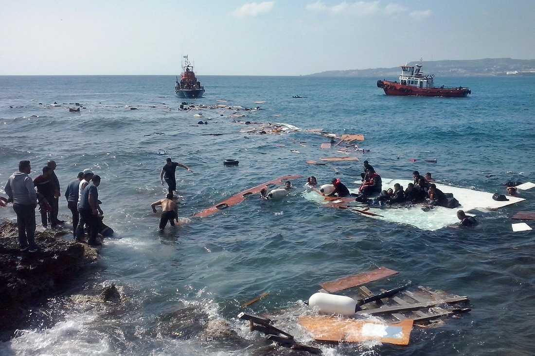 Olyckan utanför Rhodos kust.