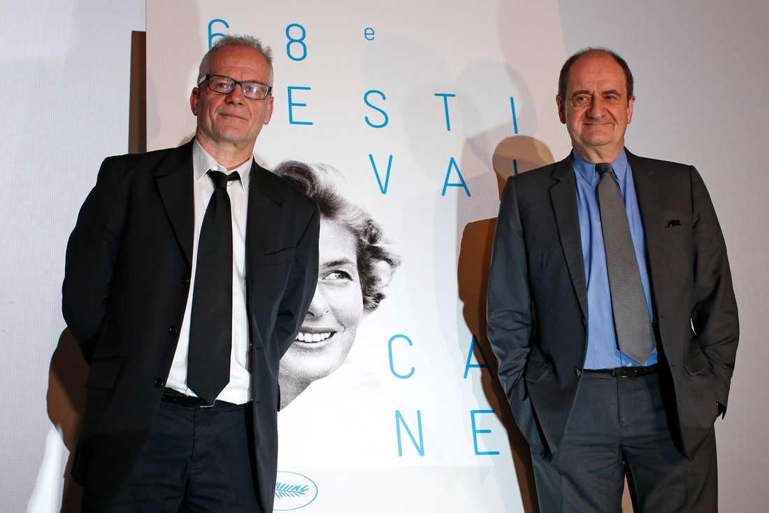 Cannes Film festivals Thierry Fremaux och Pierre Lescure presenterar årets filmer.