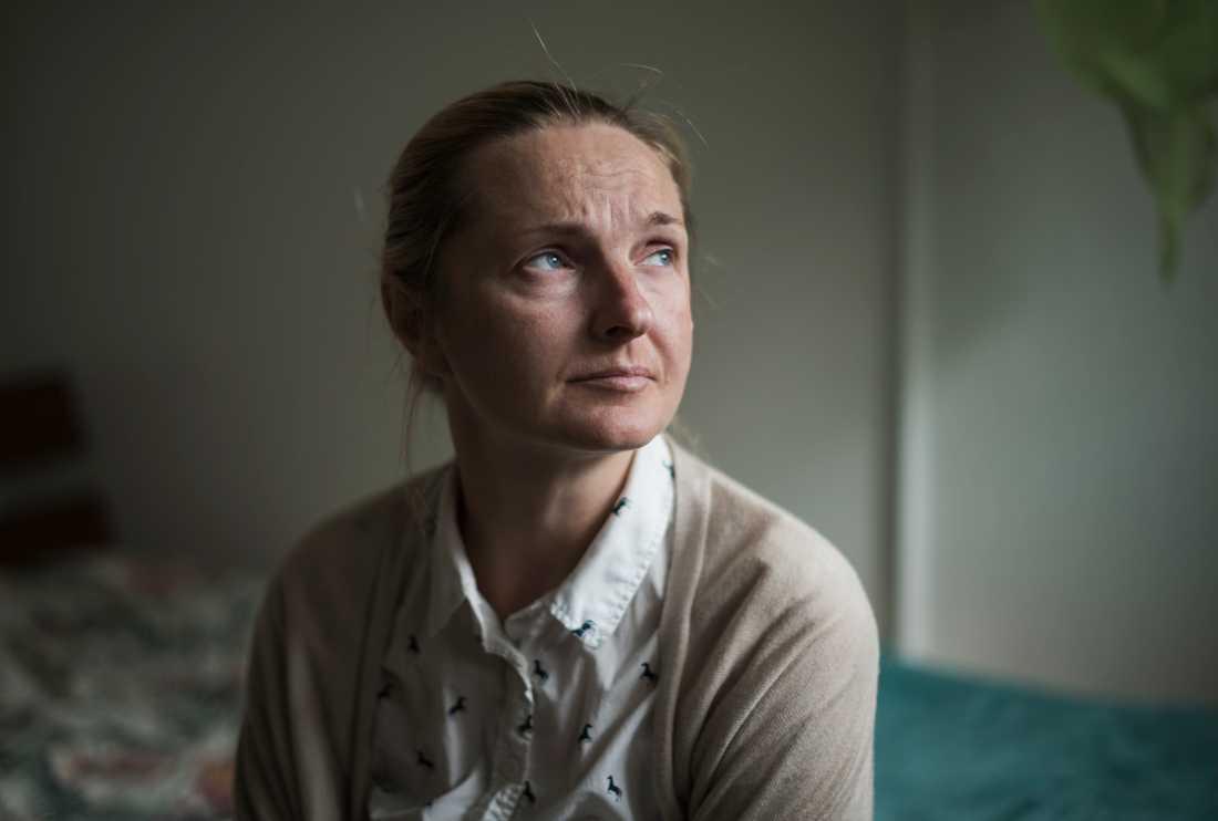 Iryna, 38, från Ukraina förlorade sitt högra ben i terrorattacken på Drottninggatan i april 2017.