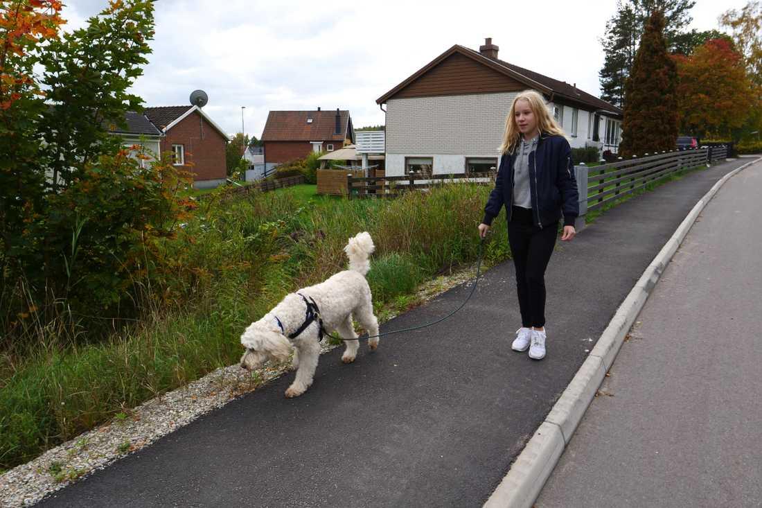 Livia hälsar på Elsa hemma i Fagersta