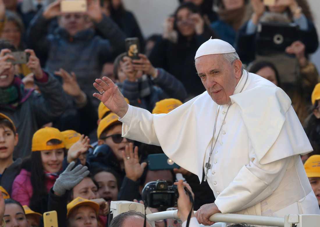 Påve Franciskus vill ta krafttag mot sexövergrepp mot barn inom katolska kyrkan. Arkivbild.