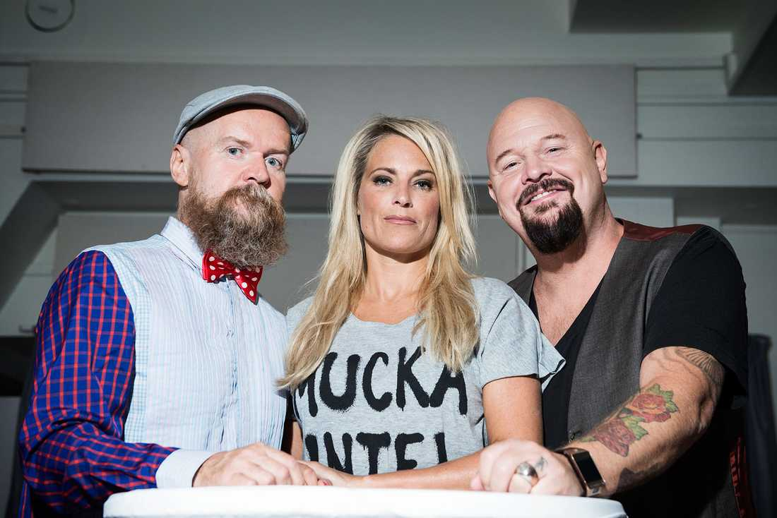 """Idol""-juryn: Alexander Bard, Laila Bagge Wahlgren och Anders Bagge."