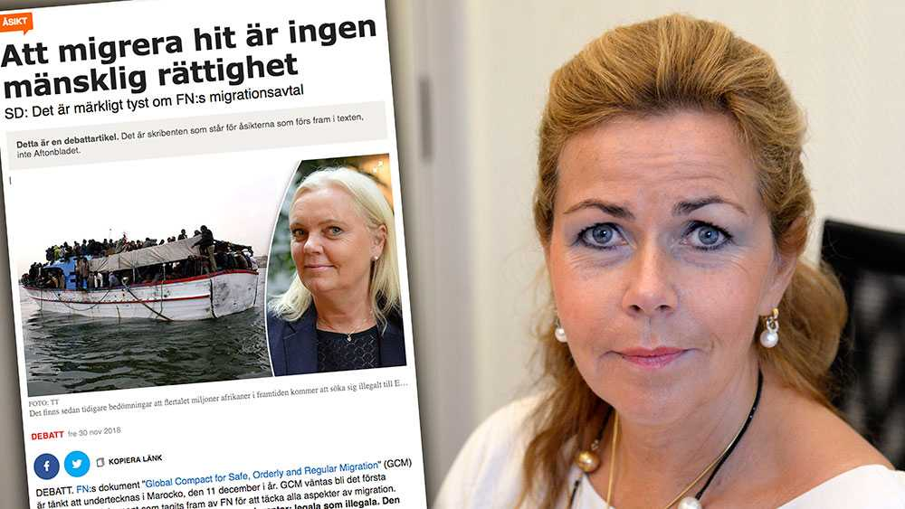 Kristina Winberg tycks tolka texten som att avtalet innehåller omfattande nya sociala rättigheter, liksom begränsningar i medias möjligheter att rapportera om migration. Detta är naturligtvis kvalificerat nonsens, skriver Cecilia Wikström (L).