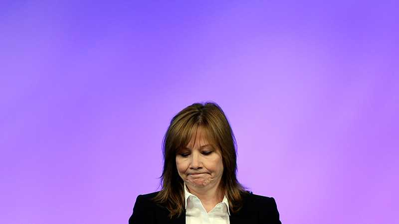 GM-koncernens nya chef Mary Barra har lovat ta ansvar för skandalen.