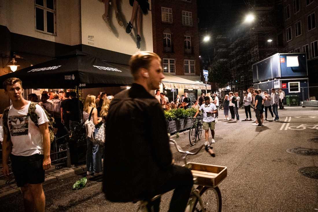 Svartfester har blivit ett problem i Danmark under pandemin. Bilden är från Köpenhamn – men har inget med helgens fest i Sydhavnen att göra. Arkivbild.