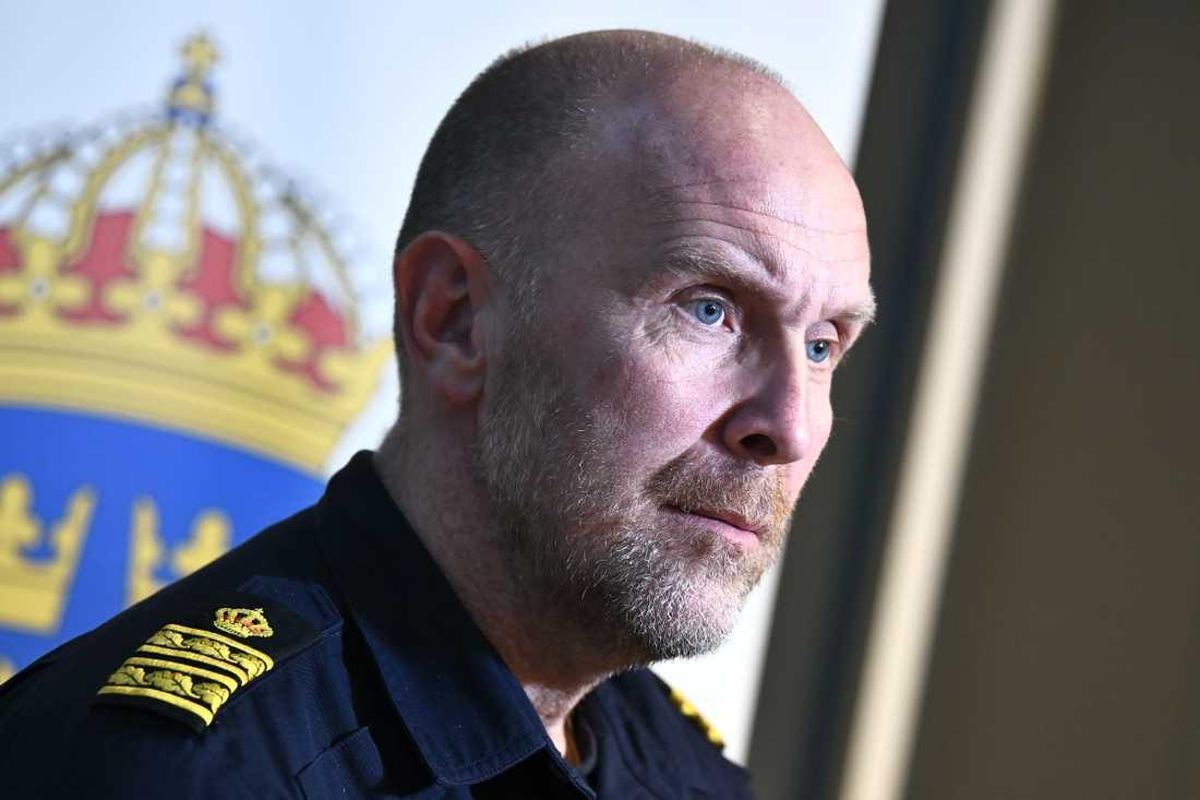 Stefan Hector är nationell kommenderingschef för polisens kraftsamling mot skjutningar och sprängningar, Operation rimfrost.