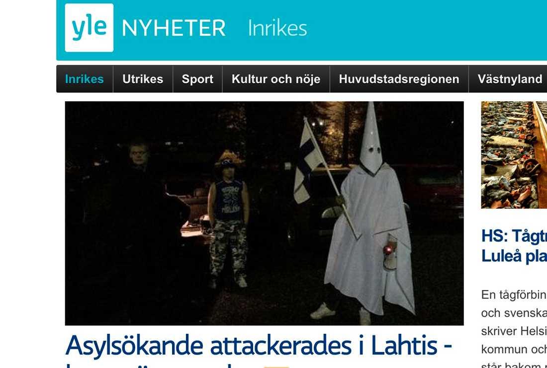 Svenska Yles sajt i morse.