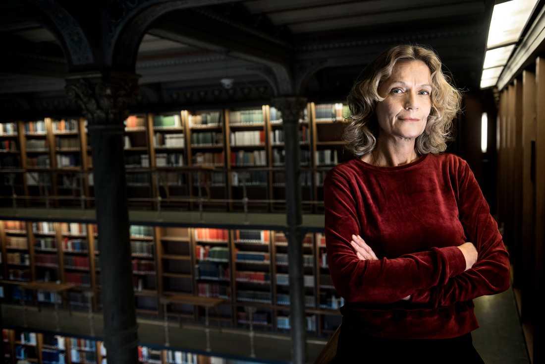 Åsa Wikforss, professor i teoretisk filosofi vid Stockholms universitet, tilldelas Natur och Kulturs populärvetenskapliga pris. Arkivbild.