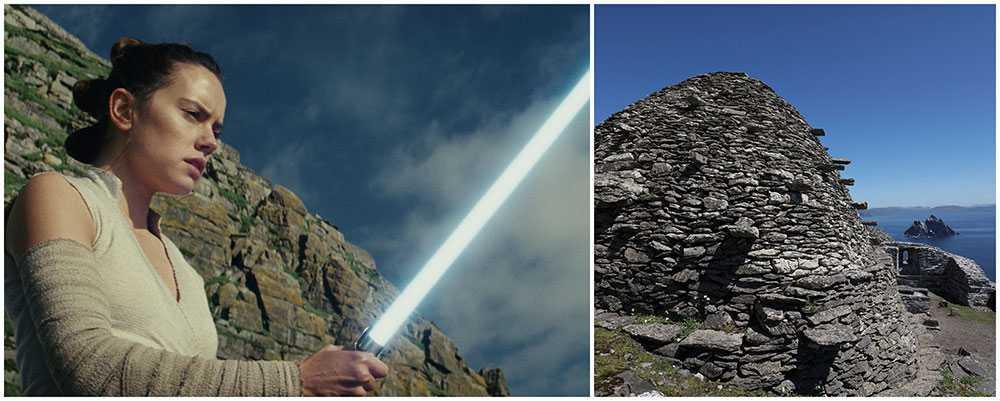 Star Wars: The las Jedi spelades bland annat in på irländska ön Skellig Michael .