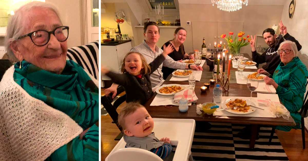 I lördags kväll fick Hildur äntligen gå bort på middag och träffa familjen igen.