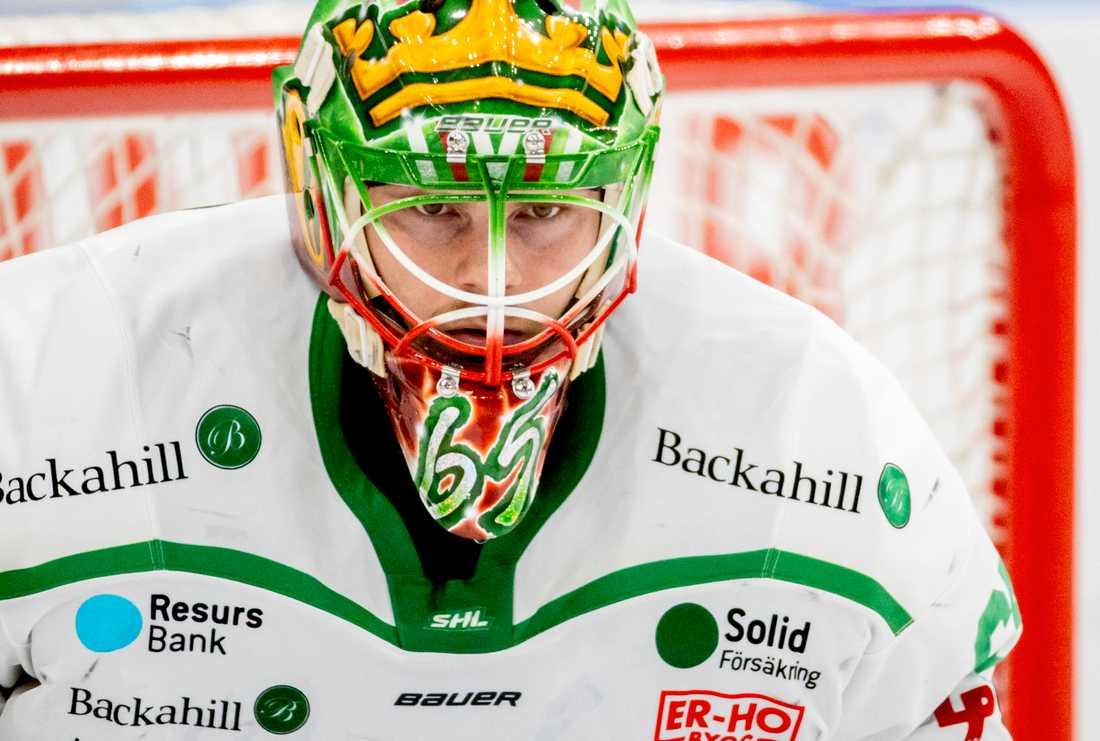 Christoffer Rifalk höll sin andra nolla i kvartsfinalserien mot Frölunda, som Rögle nu leder med 3–0 i matcher.