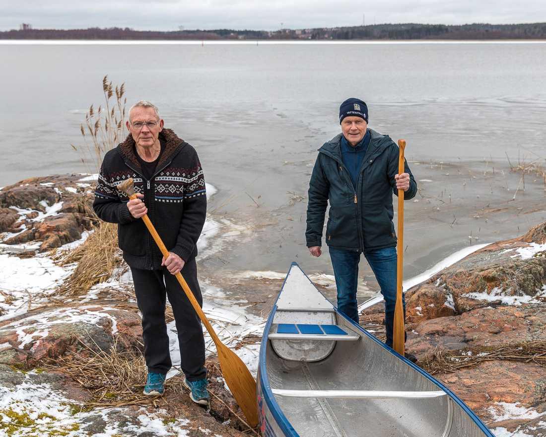 Jörgen Engström och hans grannen Rodhy räddade livet på havsörnen.