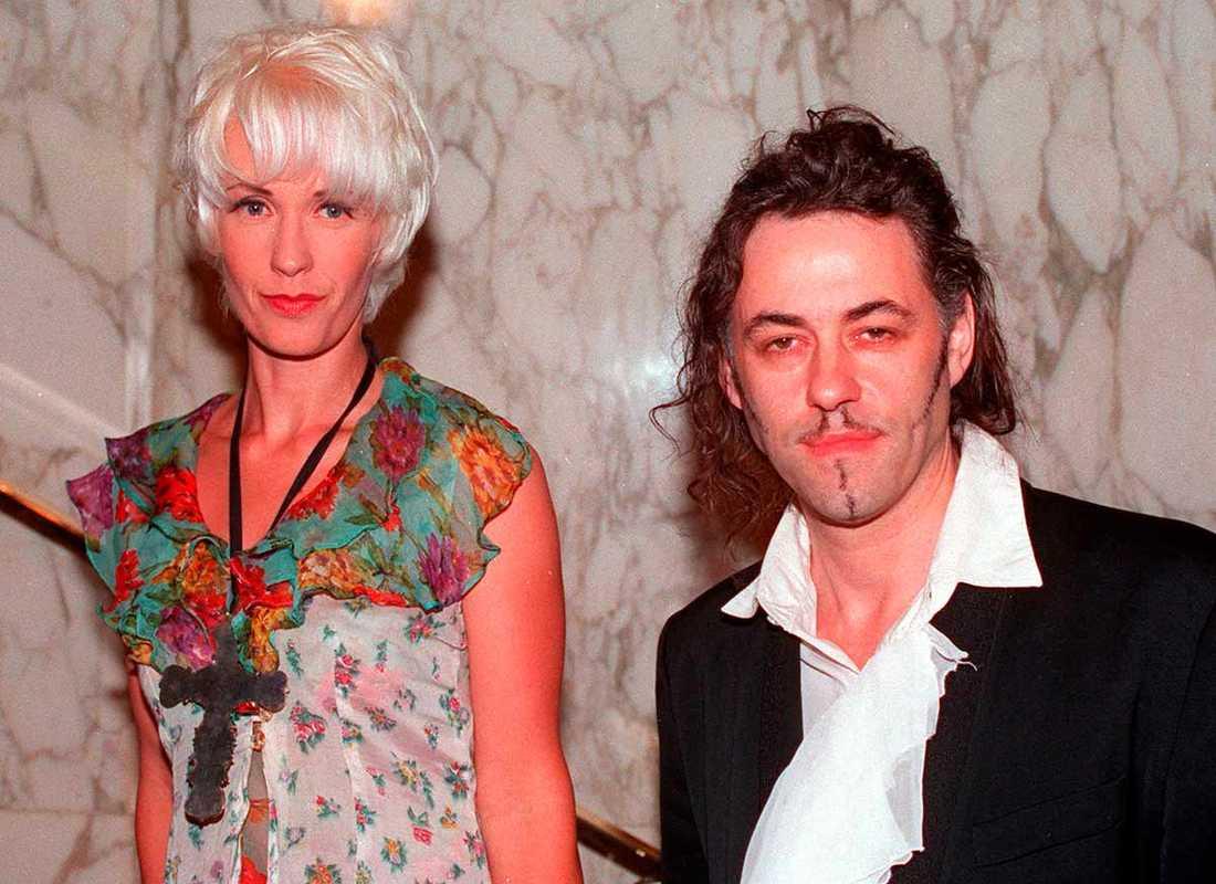Paula Yates och Bob Geldof 1993.