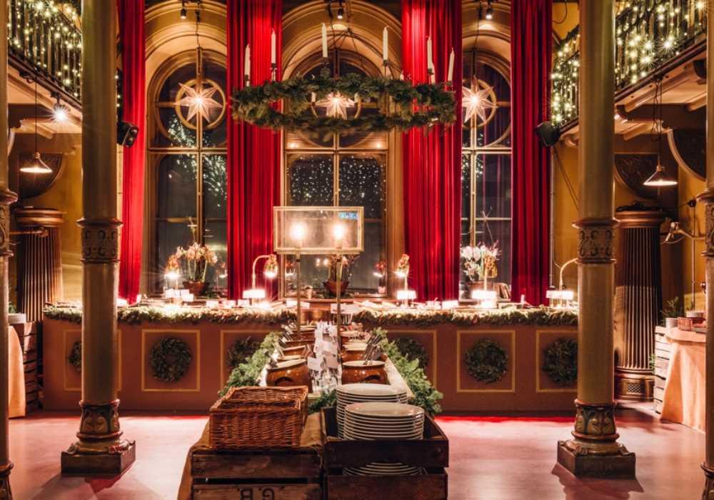 Julbord på Gamla Riksarkivet.