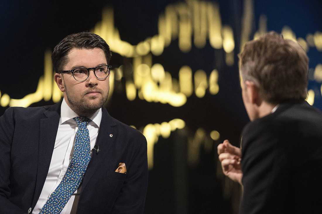 Jimmie Åkesson i Skavlan.