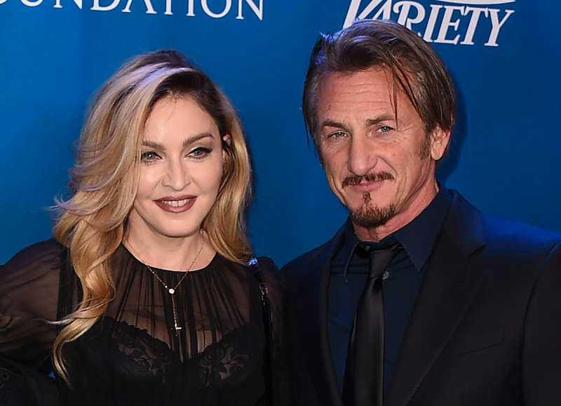 Madonna tillsammans med Sean Penn.