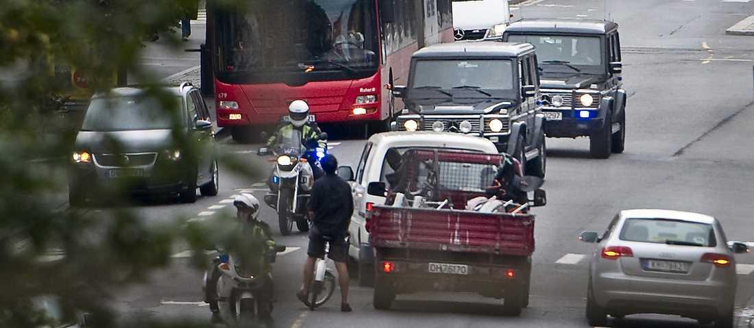 Färden genom Oslo ställde till med rejält trafikkaos.