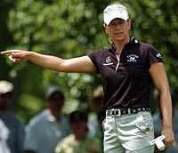 Missade titeln. Annika Sörenstam lyckades inte vinna en tredje raka Major-titel, 77 slag sista dagen förstörde chanserna.