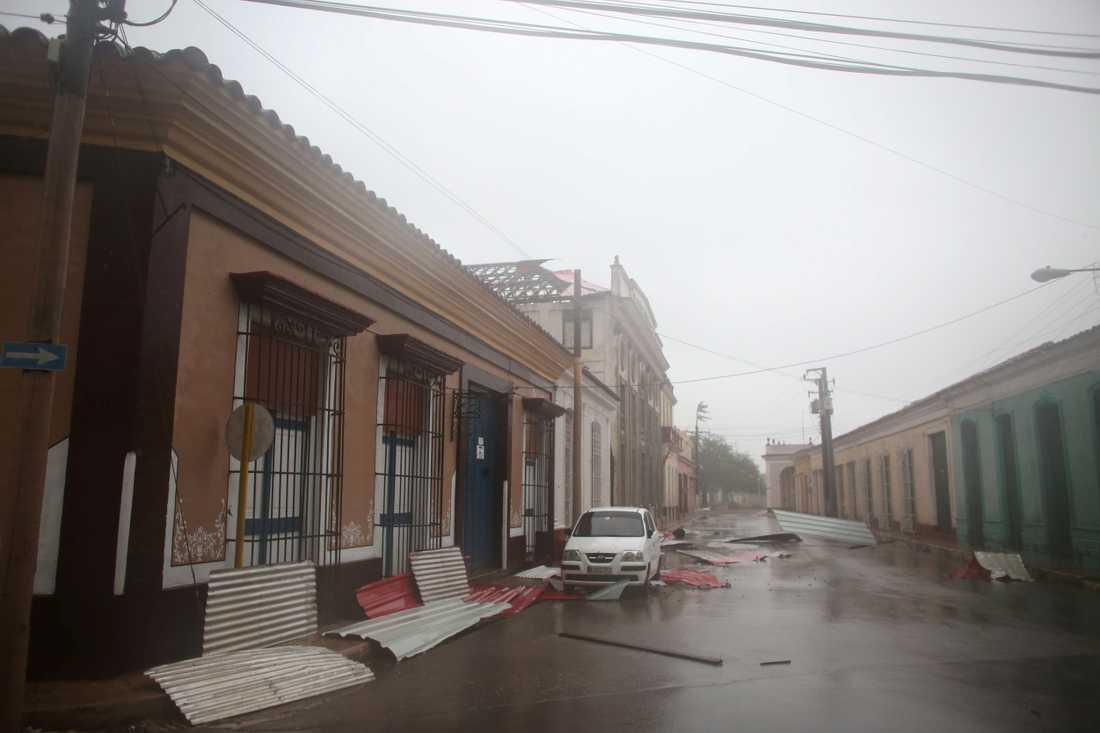 Förödelsen efter Irma i Remedios, Kuba.