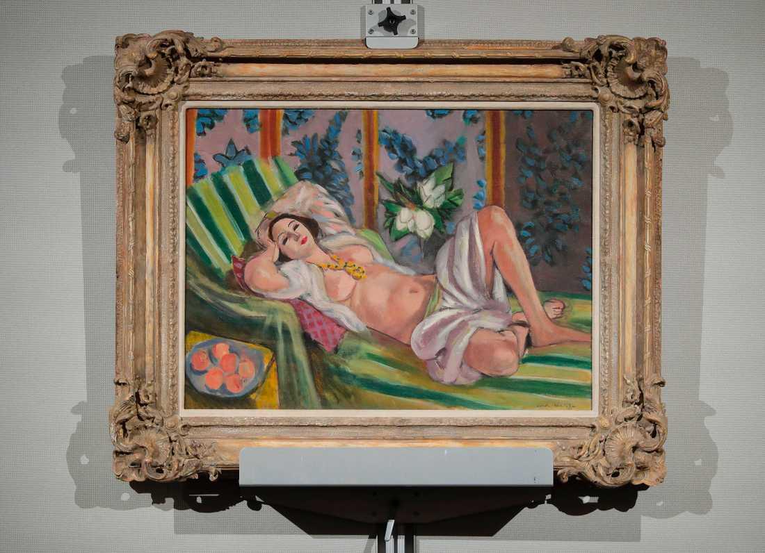 """Henri Matisses """"Odalisque couchee aux magnolias""""."""
