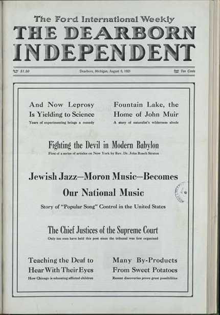 Henry Fords antisemitiska husorgan Dearborn independent