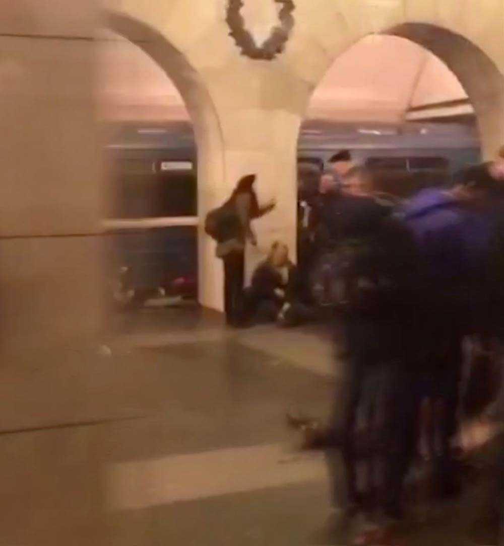 Bild från ögonvittne strax efter explosionen i S:t Petersburg.