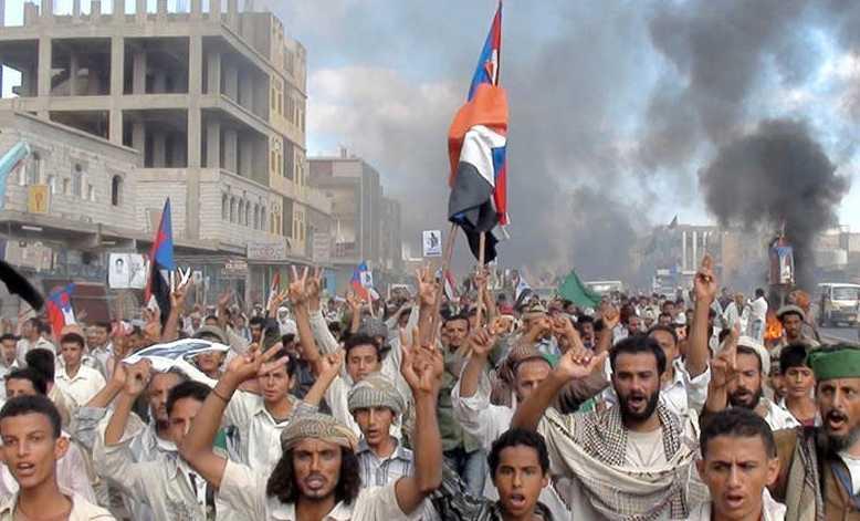 Protester i Jemen.