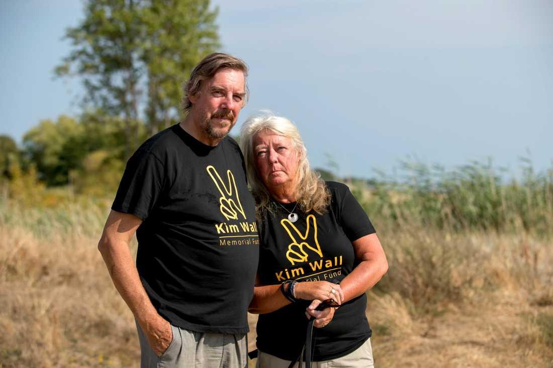 Kim Walls föräldrar Ingrid och Joachim Wall.