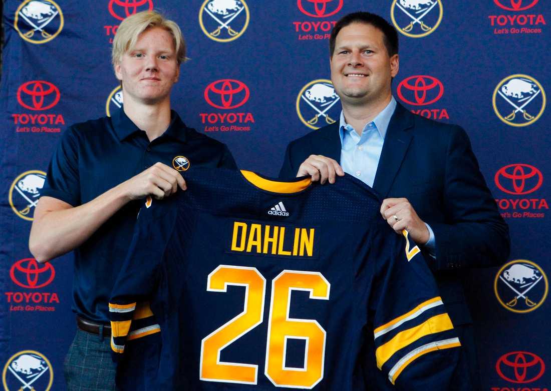 Rasmus Dahlin under sommarens draft.
