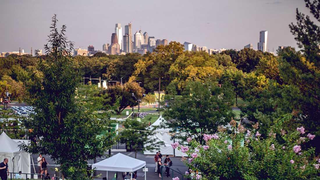 Spelningen med 21 Savage, som ingick i festivalen Roots picnic, hölls på Mann Center i Philadelphia.