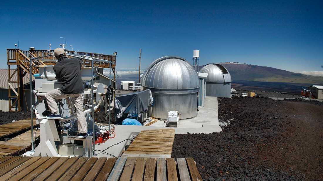 Mätningarna görs vid Mauna Loa-observatoriet på Hawaii. Arkivbild.
