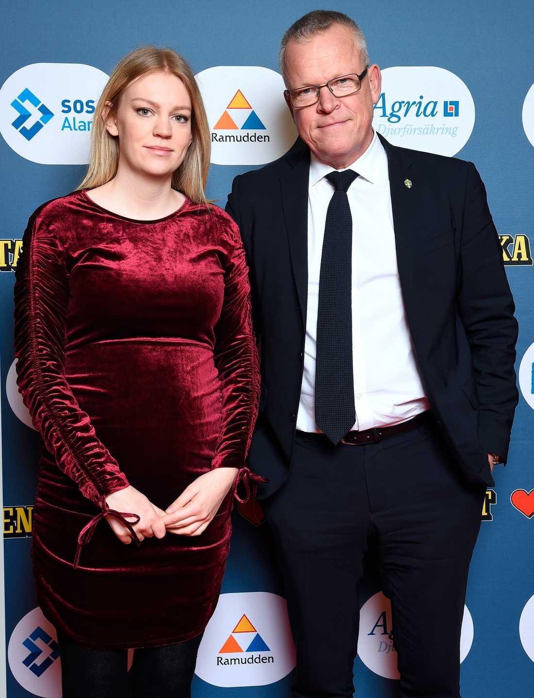 Janne Andersson med dottern Julia.