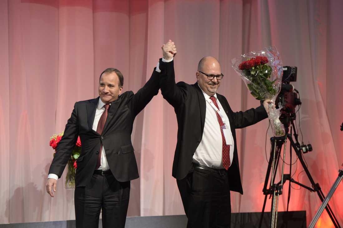 Statsminister Stefan Löfven och LO:s ordförande Karl-Petter Thorwaldsson.