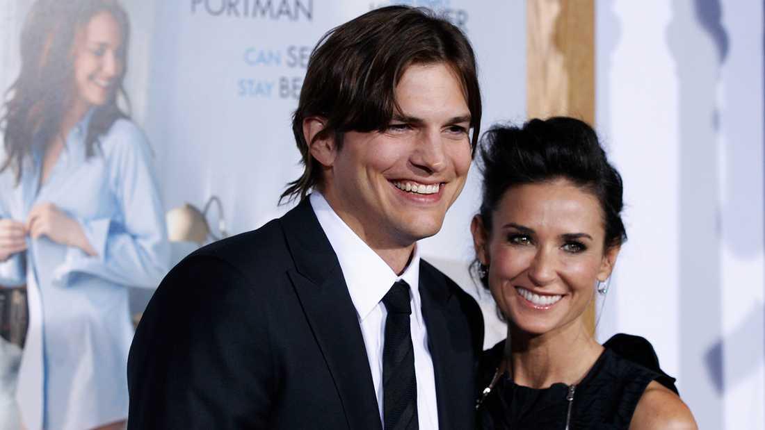 Ashton Kutcher och Demi Moore.