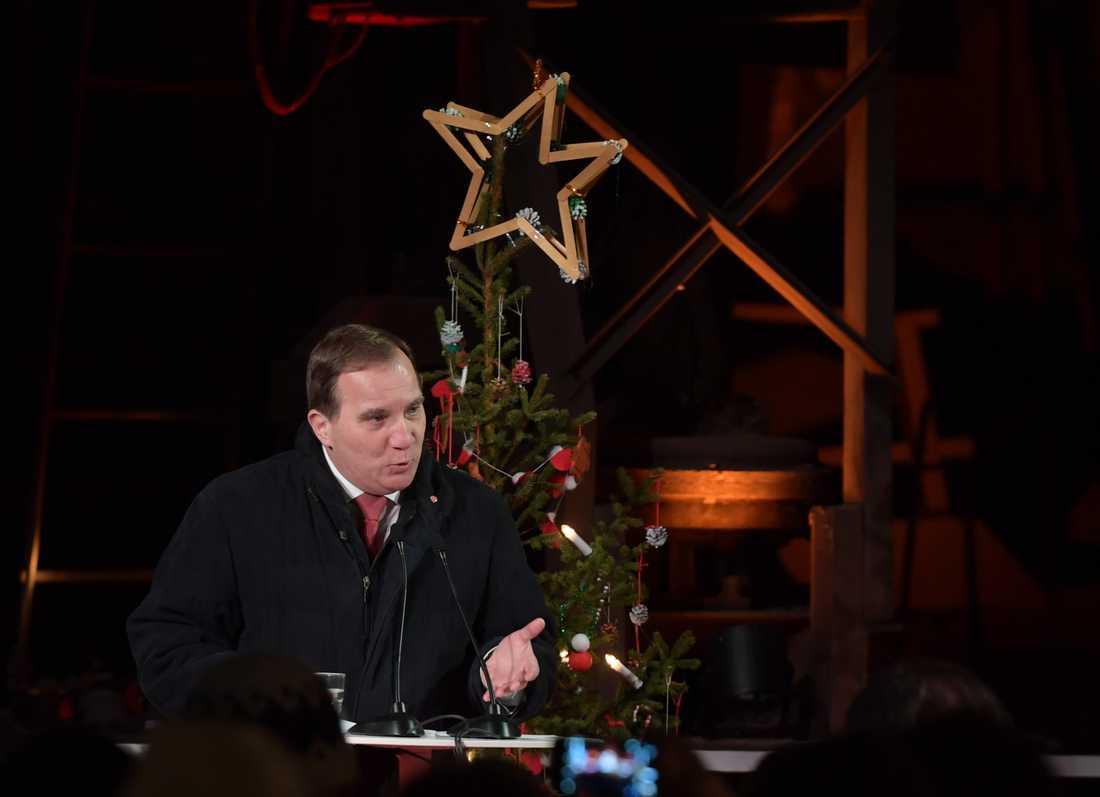 2018 jultalade Stefan Löfven i Avesta.
