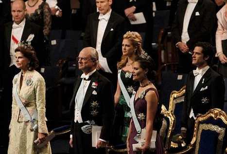 Nobelfesten 2009 Hela kungafmailjen var där – men inte Daniel.