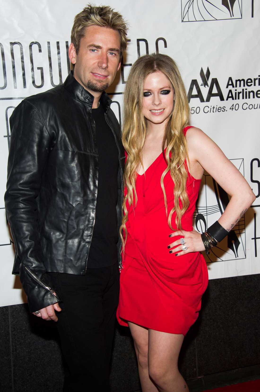 Chad Kroeger och Avril Lavigne.