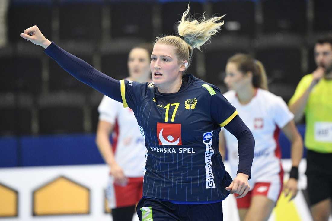 Nina Dano, målfarlig i sin andra landskamp.