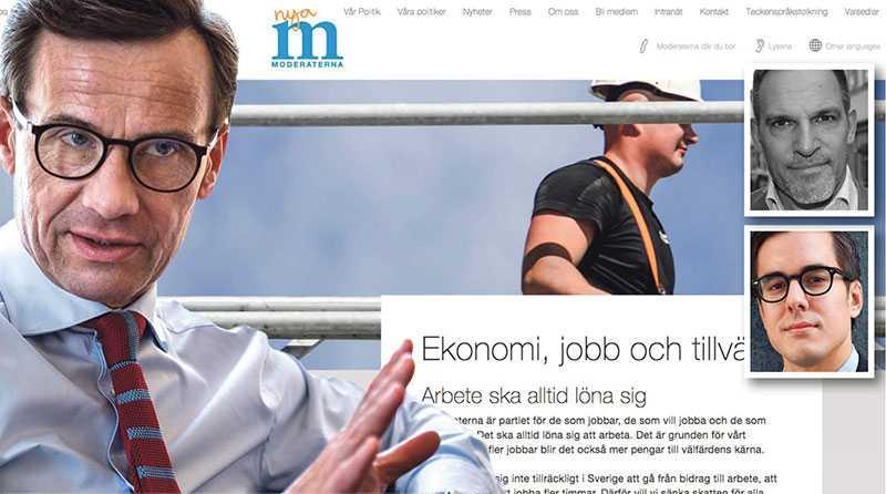 """Ulf Kristersson och Moderaterna överdriver och sprider felaktiga påståenden om omfattningen av """"bidragsberoendet"""", och incitamenten att ta ett arbete, skriver Daniel Färm och Torsten Kjellgren."""