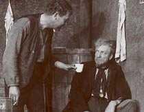 """Tore Svennberg och Victor Sjöström i den klassiska stumfilmsversionen av """"Körkarlen"""". Premiär: nyårsdagen 1921."""