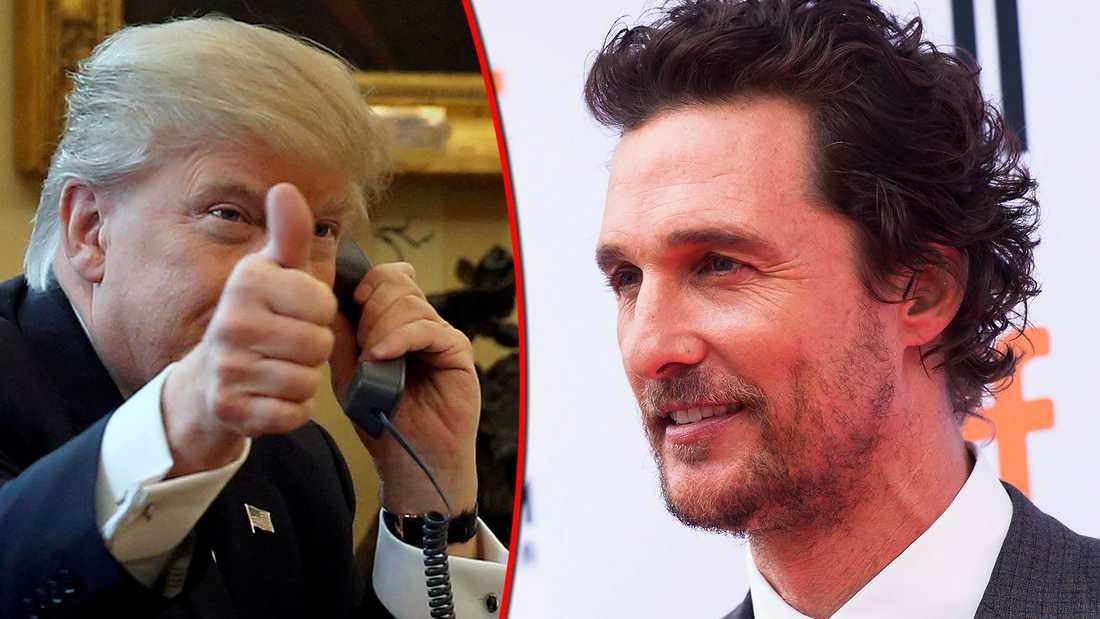 Donald Trump och Matthew McConaughey.