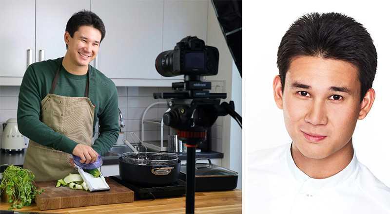 Filip Poon lärde sig själv att laga mat som tonåring med hjälp av klipp på Youtube.