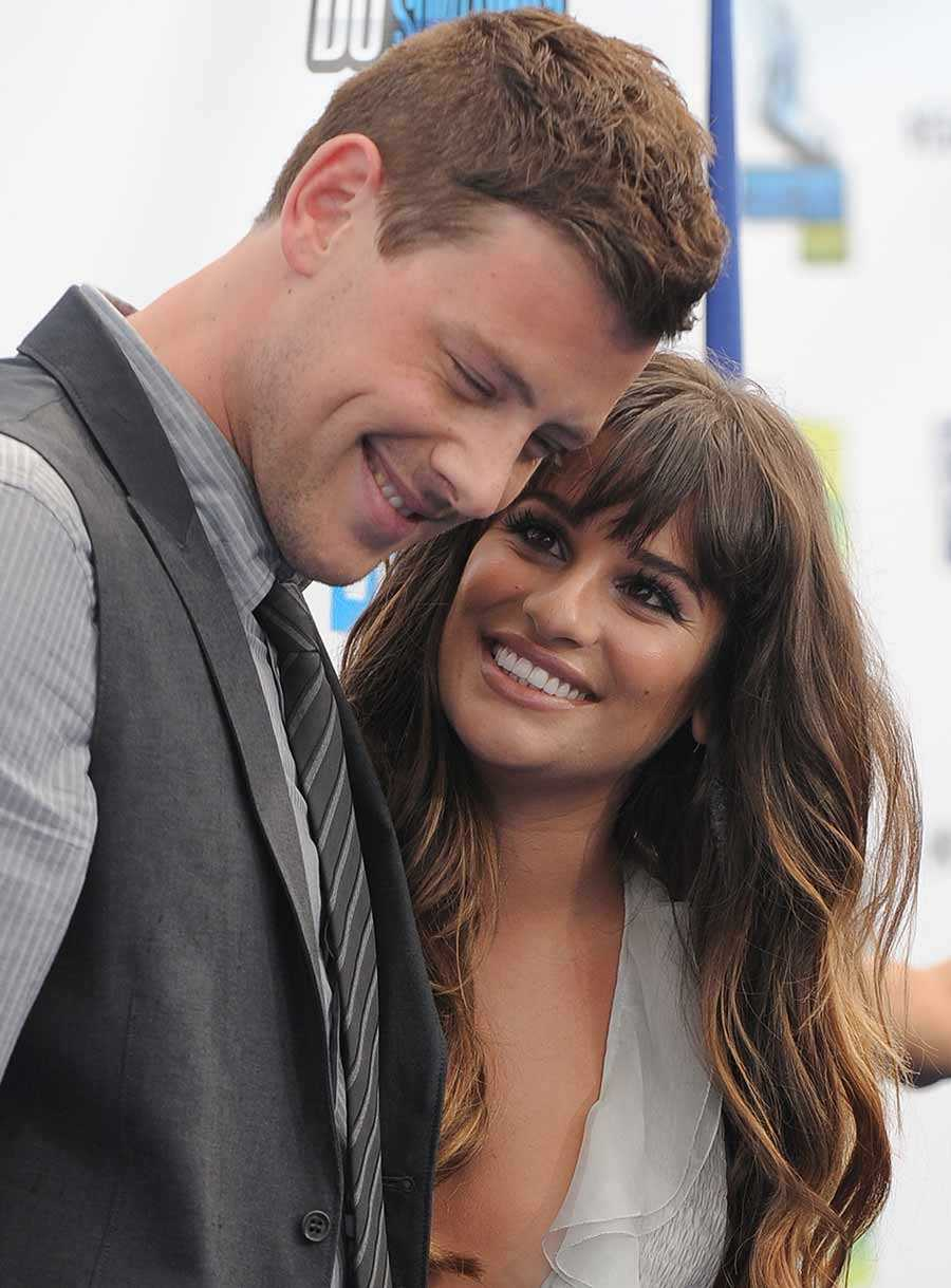Cory Monteith tillsammans med flickvännen Lea Michele.