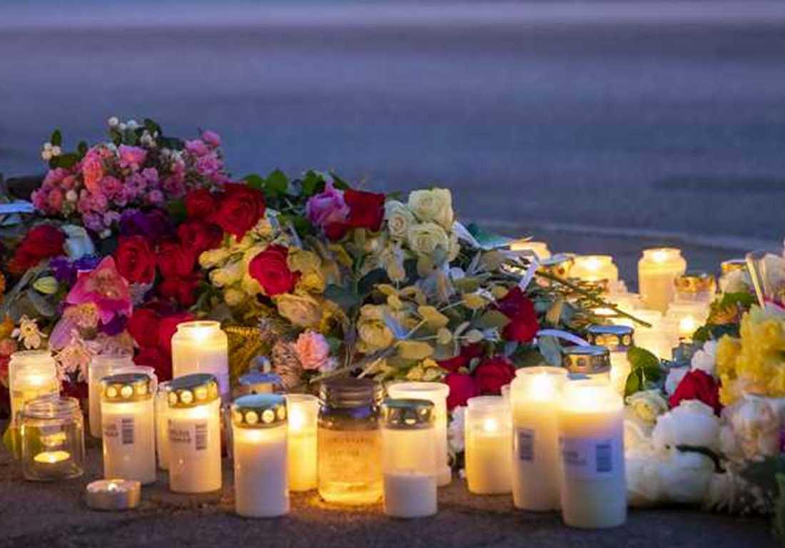 Polisnärvaron var omfattande i Ribersborg dagarna efter mordet.