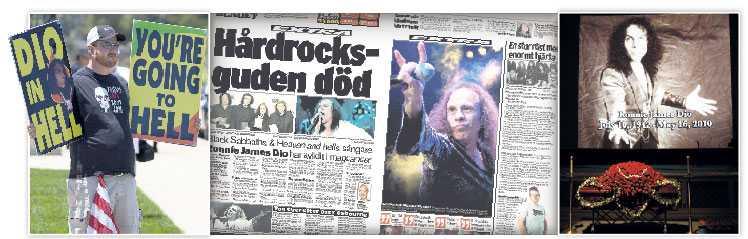 """Religiösa demonstranter var på plats under begravningen av Ronnie James Dio. """"De ropade hemska saker"""" säger Ozzy Osbourne."""